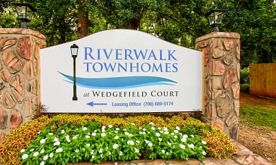 Community Signage, Riverwalk Townhomes At Wedgefield Court, 2