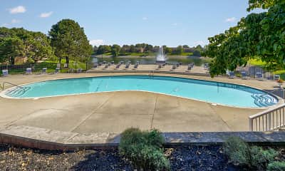Pool, River Road Apartments, 1