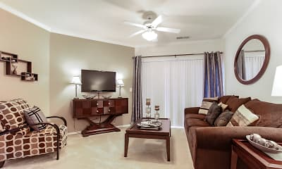 Living Room, The Fairways At Piper Glen, 1