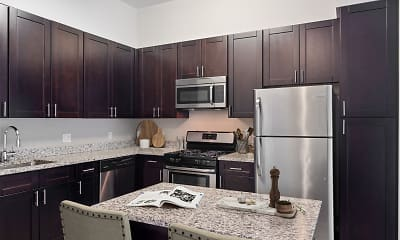 Kitchen, Vault Apartments, 0