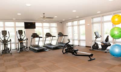Fitness Weight Room, Watts Hill Apartments, 2