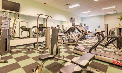 Fitness Weight Room, The Residence At Sandhill, 2