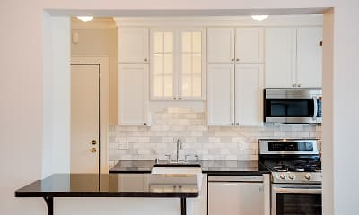 Kitchen, Classic City Apartments, 0