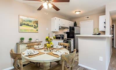 Dining Room, Hilliard Station Apartments, 0