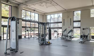 Fitness Weight Room, Flats at Carrs Hill, 2