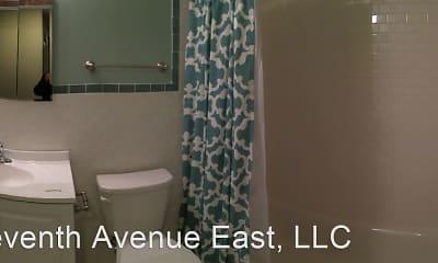 Bathroom, Central Village Apartments, 2