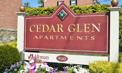 Community Signage, Cedar Glen Apartments, 2