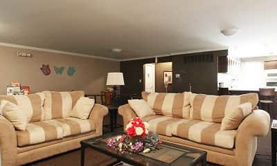 Living Room, Auburn Village Townhomes, 1