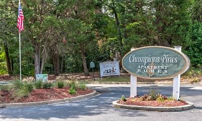 Community Signage, Champions Pines, 2
