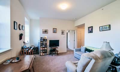 Living Room, Hearthstone Senior Apartments, 1