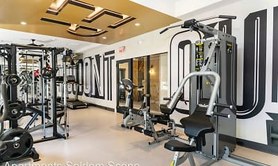 Fitness Weight Room, Eastampton Place Apartments, 2