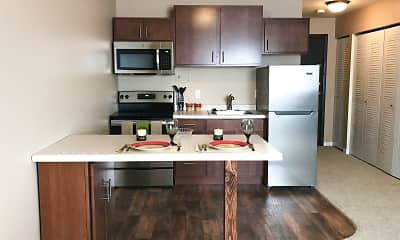 Kitchen, Courtyard Apartments, 0