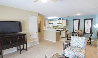 Living Room, The Addison at Collierville, 1