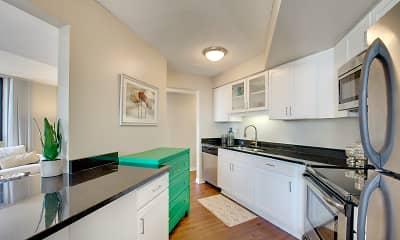 Kitchen, Galtier Towers, 1