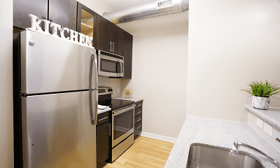 Kitchen, Chestnut Street Lofts, 0