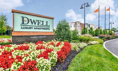 Community Signage, Dwell Luxury Apartments, 0