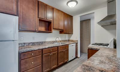 Kitchen, Queen Terrace Apartments, 1