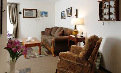 Living Room, Julia Manor Apartments, 0
