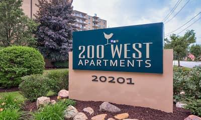 Community Signage, 200 West Apartments, LLC, 0