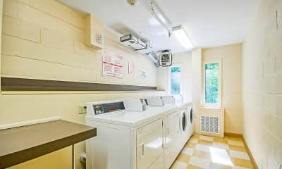 laundry area featuring plenty of natural light, tile floors, and washer / dryer, West Wood Oaks, 0