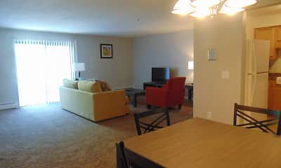 Living Room, Rivers Edge Apartments, 2