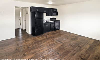 Kitchen, Metro Apartments at Granite City, 1