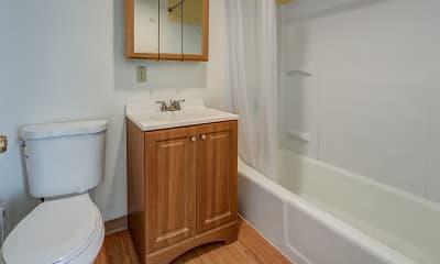 Bathroom, School Street Apartments, 2