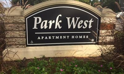 Community Signage, Park West Apartment Homes, 2
