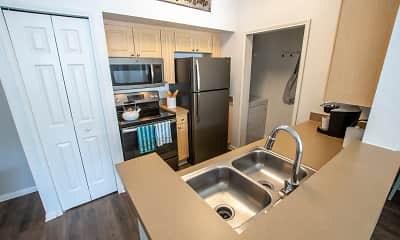 Kitchen, Rivertree Apartments, 0