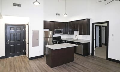 Kitchen, P & P Mill Apartments, 1