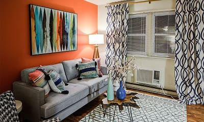 Living Room, Heritage Apartments, 1