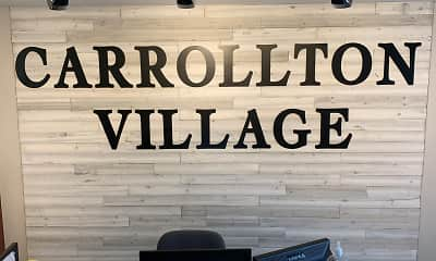 Community Signage, Carrollton Village, 0