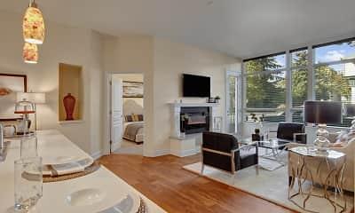 Living Room, Woodin Creek Village, 1