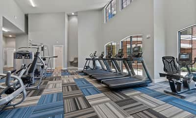 Fitness Weight Room, The Mansions at Mercer Crossing, 1