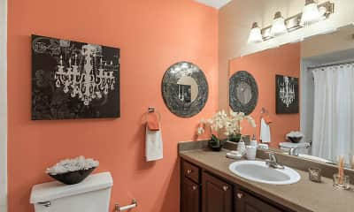 Bathroom, Landmark at Spring Creek Apartment Homes, 2