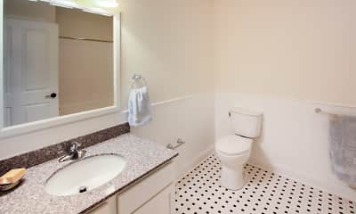 Bathroom, Mill Road Apartments, 2