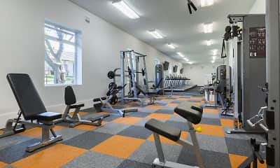 Fitness Weight Room, Valley West Apartments, 0