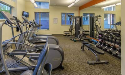 Fitness Weight Room, Boxcar Apartments, 2