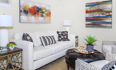 Living Room, The Station at Richmond Hill Apartments, 1