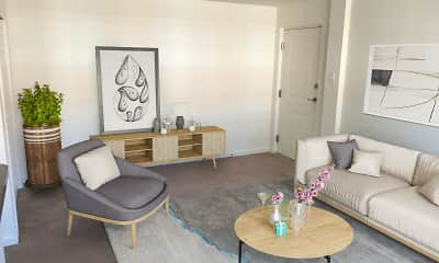 Living Room, Rosemore Gardens Apartments, 2