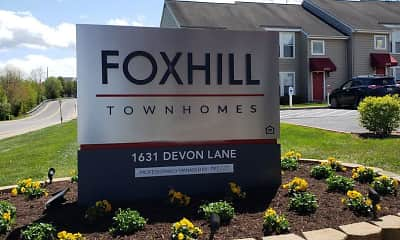 Community Signage, Foxhill Townhomes, 2