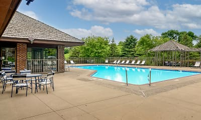 Pool, Oak Pointe Apartments, 0