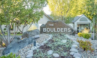 Community Signage, Boulders On the River Apartments, 0