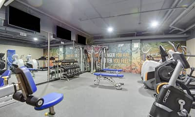 Fitness Weight Room, Spectra Park Apartments, 2