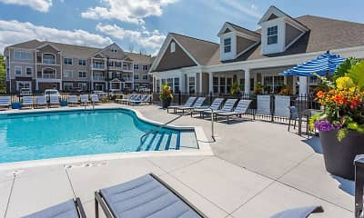Pool, Winding Creek Apartments & Townhomes, 1