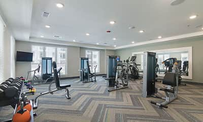 Fitness Weight Room, Verena at Bedford Falls, 2