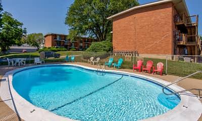 Pool, Crysler Plaza West and Crysler Plaza East, 0