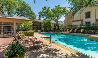 Pool, Preston Greens Apartments, 0