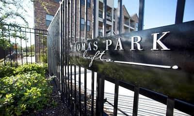 Community Signage, Thomas Park Lofts Apartments, 0
