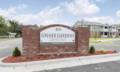 Community Signage, Griner Gardens Apartments, 2